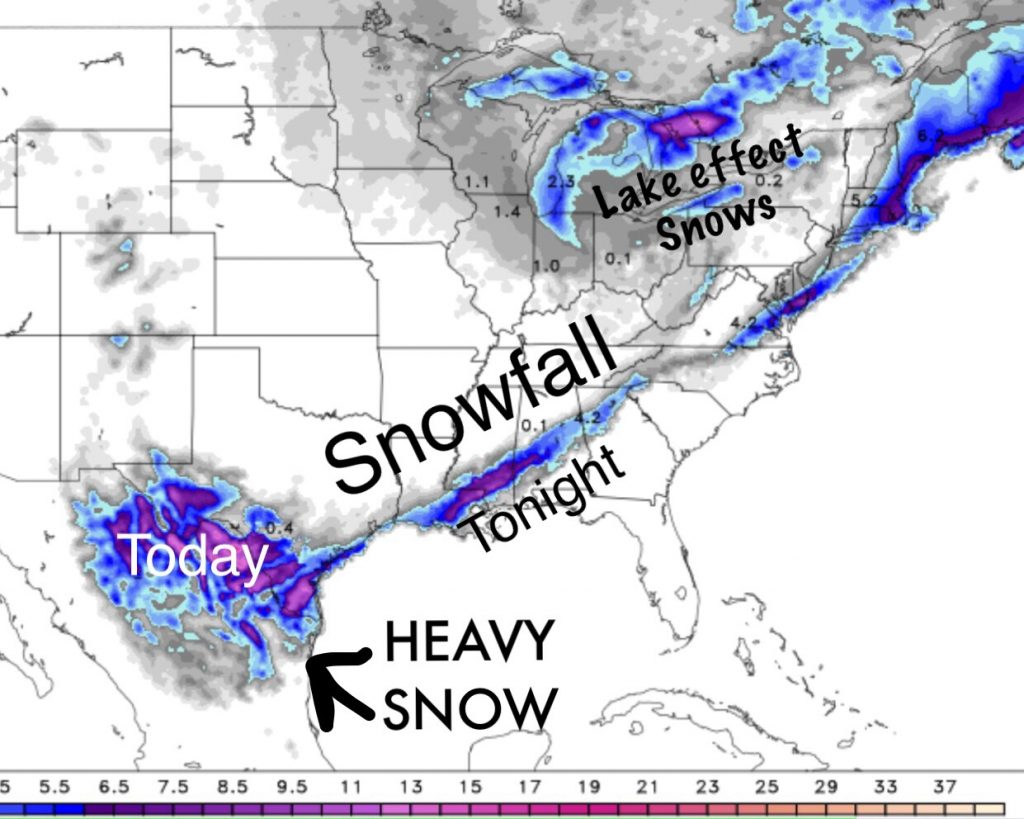 SNOW IN SW TEXAS LOUISIANA MISSISSIPPI AND ALABAMA Crazy